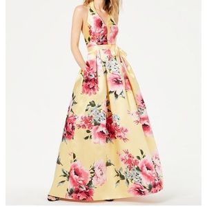 NWT Halter Floral Gown